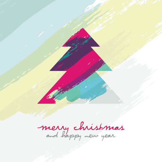 Artistic Christmas Tree - Free vector #206059