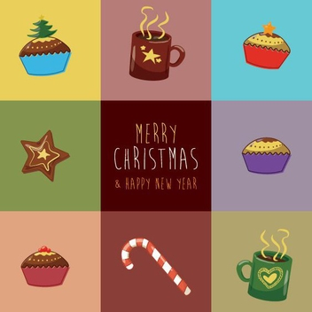 Christmas Greeting Card - vector gratuit #206149
