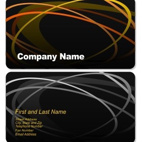 Elegant Business Card - Kostenloses vector #206179
