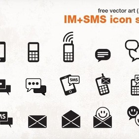Instant Messenger + SMS Icon Pack - vector #206189 gratis