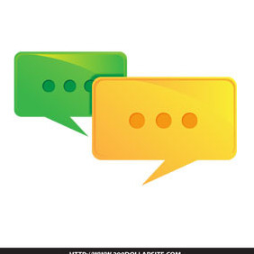 Free Vector Of Speech Bubble Discussion Icon - vector #206229 gratis