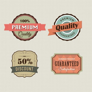 Vintage Labels - vector #206359 gratis