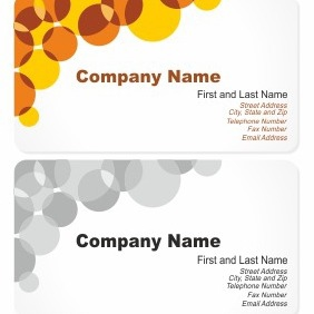 Business Card With Bubbles - Free vector #206369