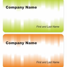Two Business Cards - vector gratuit #206379