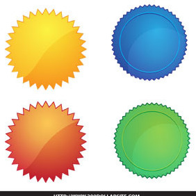 Another Set Of Free Vector Badges - Kostenloses vector #206469