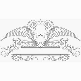 Ornamental Wings Sign - vector #206499 gratis