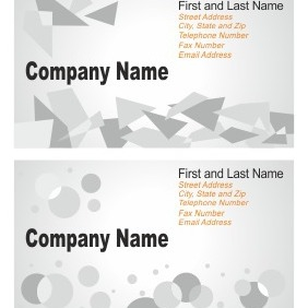 Business Card Set - vector gratuit #206579
