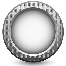 Vector Metal Button - Kostenloses vector #206739