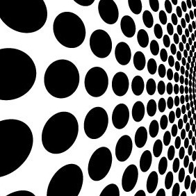 Black Dots Abstract Vector - Free vector #206839