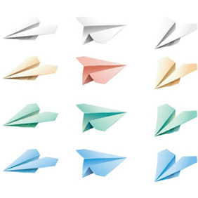 Colourful Paper Airplanes - Free vector #206869