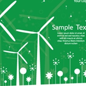 Windmill Green Card - Kostenloses vector #206919