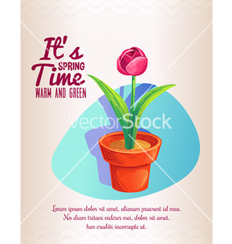 Free flower in pot plant design vector - Free vector #206969