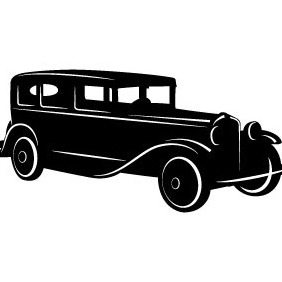 Retro Automobile Vector - Free vector #207099