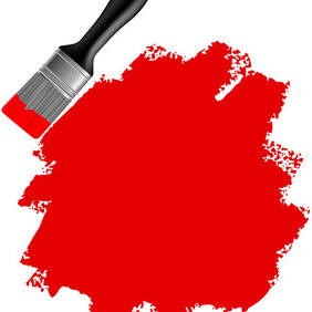 Vector Paint Brush - vector gratuit #207269