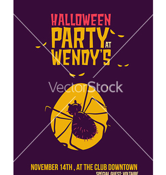 Free halloween with spider vector - Kostenloses vector #207309