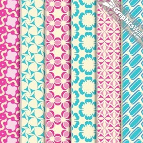6 Tileable Vector Patterns - vector #207339 gratis