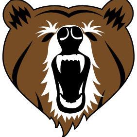 Bear Head Vector Clip Art - Kostenloses vector #207499