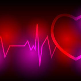 Heartbeat Vector Background - Free vector #207519