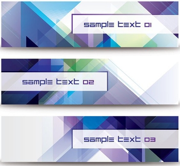 Abstract Diagonal Banners - Free vector #207669
