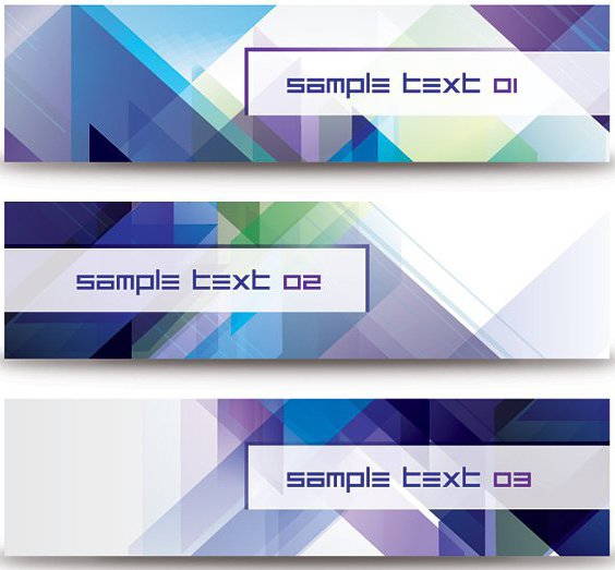 Abstract Diagonal Banners - vector gratuit #207669