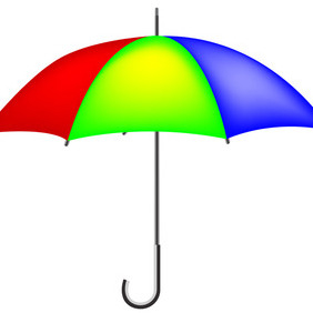 Colorful Vector Umbrella - vector gratuit #207679
