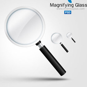 Magnifying Glass Icon - vector gratuit #207709