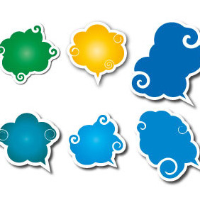Speech Clouds Vector Set - vector gratuit #207849