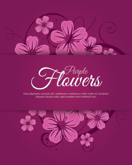Purple Flowers - Free vector #207879