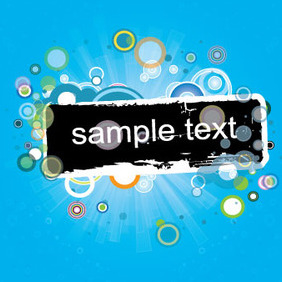 Blue Frame Vector Graphique - Kostenloses vector #207899
