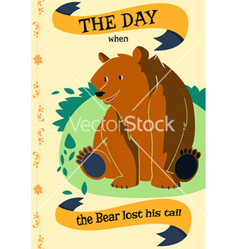 Free cartoon bear flat design vector - Free vector #207969