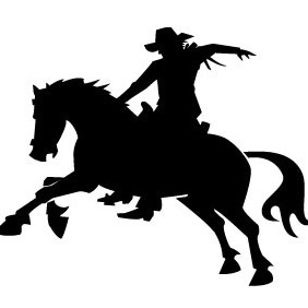 Cowboy Riding Horse Vector Image - бесплатный vector #207999