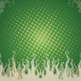Green Swirly Flame Free Vector - vector gratuit #208049