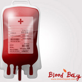 Blood Bag - vector gratuit #208059