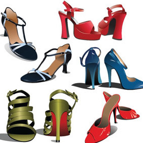High Heel Shoes - Free vector #208089