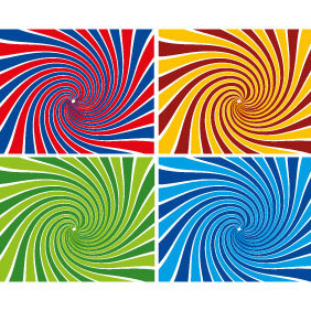 Sunbeams Swirl Vector Background - Kostenloses vector #208139