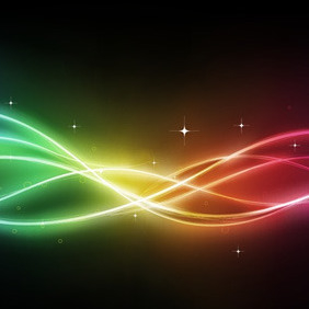 Abstract Rainbow Curve - Kostenloses vector #208259