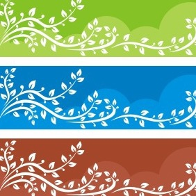 Tree Banner Backgrounds - vector gratuit #208589