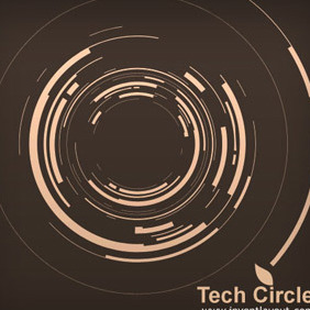 Tech Circle - vector gratuit #208629