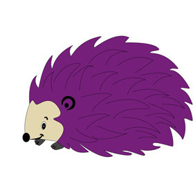 Hedgehog Cartoon Character- Free Vector. - Free vector #208659