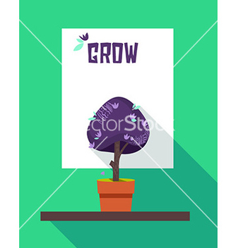 Free grow abstract motivational poster vector - Kostenloses vector #208669