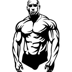 Bodybuilder Vector - бесплатный vector #208759