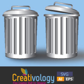 Free Vector Trash Can - vector gratuit #208959