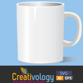 Free Vector Photorealistic White Cup - бесплатный vector #208979