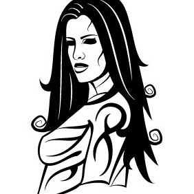 Girl With Tattoo Vector - Kostenloses vector #209039