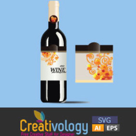 Free Vector Wine Bottel - Free vector #209059