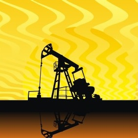 Oil Pump Under Hot Sky - Kostenloses vector #209069