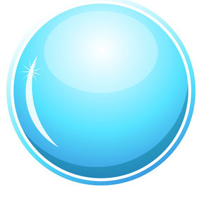 Glossy Blue Circle - Free vector #209079