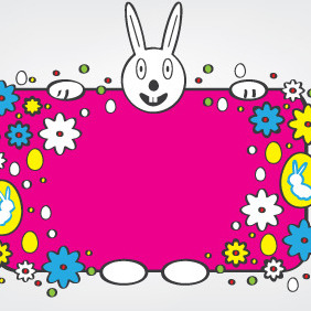 Colorful Easter Banner - Free vector #209119