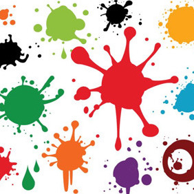 Colourful Paint Spray - Kostenloses vector #209189