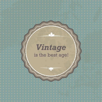 Vintage Sign - vector gratuit #209289